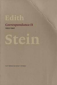 Edith Stein - Correspondance - Volume 2 (1933-1942).