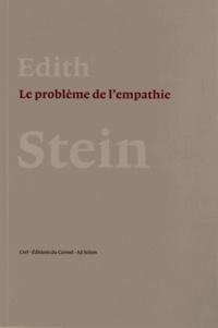 Edith Stein - Le problème de l'empathie.