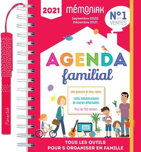 Agenda familial Mémoniak. Tous les outils pour s'organiser en famille. Avec 1 stylo , 700 autocollants, 1 planche de blocs-notes autocollants  Edition 2021