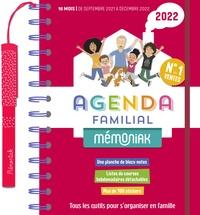 Editions 365 - Agenda familial Mémoniak - Tous les outils pour s'organiser en famille. Avec 1 stylo , 700 autocollants, 1 planche de blocs-notes autocollants, des sites de courses hebdomadaires détachables.