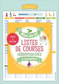 Editions 365 - Bloc de 52 listes de courses hebdomadaires à compléter.