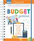 Editions 365 - Budget familial - Agenda de comptes pour la famille de septembre 2018 à décembre 2019.