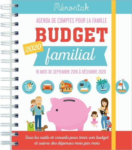 Budget familial. Agenda de comptes pour la famille de septembre 2019 à décembre 2020  Edition 2020