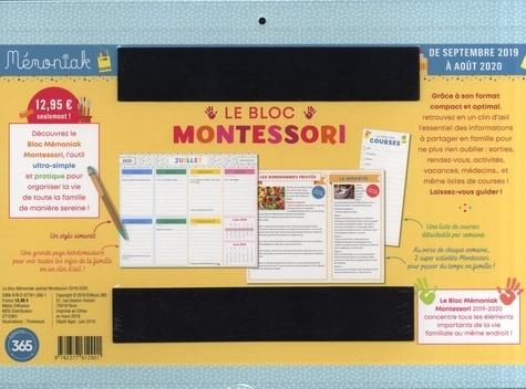 Le bloc Mémoniak Montessori  Edition 2019-2020