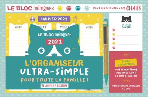 Le bloc Mémoniak pour les amoureux des chats. De janvier à décembre  Edition 2021