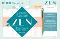Editions 365 - Le bloc Mémoniak zen - L'organiseur ultra-simple ! Avec un stylo aimanté.