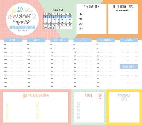 Ma semaine organisée. De septembre 2020 à décembre 2021  Edition 2020-2021