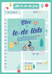 Editions 365 - Ma to-do list du jour - Bloc de to-do lists quotidiennes.
