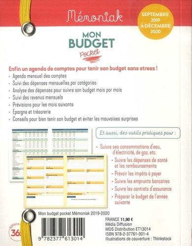 Mon budget pocket. De septembre 2019 à décembre 2020  Edition 2019-2020