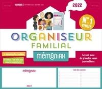 Editions 365 - Organiseur familial Le Mémoniak - Avec 1 000 autocollants, 8 aimants, 1 bloc listes de courses, 1 calendrier des fruits et légumes, 1 calendrier scolaire, 1 pochette, 2 trombones, 1 stylo-feutre.