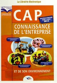 Christiane Balanger - Connaissance de l'entreprise et de son environnement CAP - Corrigé. 1 Cédérom
