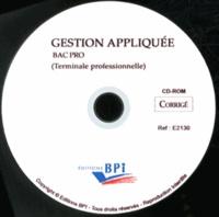 Christiane Balanger - Gestion appliquée Tle Bac Pro CSR - Corrigé. 1 Cédérom
