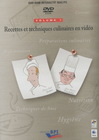 Recettes et techniques culinaires en vidéo - Volumes 1 et 2 - DVD-ROM.pdf