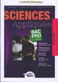 Karine Costanzo et Christian Mairey - Sciences Appliquées Bac Pro cuisine. 1 Cédérom