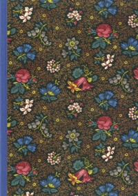 Editions du Chêne - Cahier dominoté A5 fleurs bleu.