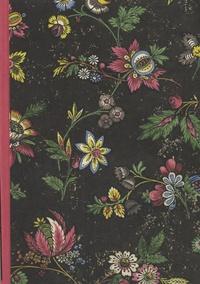 Editions du Chêne - Cahier dominoté A5 - Fleurs rouge.