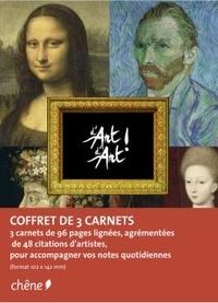 Editions du Chêne - D'Art d'Art ! - Coffret de 3 carnets de notes A6.