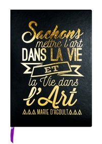 EDITIONS DU DESASTRE - Carnet Leitmotiv 96 pages pointillées Noir Marie d'Agoult Sachons mettre l'art dans la vie…