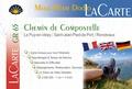 Jacques Clouteau et Lauriane Clouteau - Chemin de Compostelle (Le Puy-en-Velay/Saint-Jean-Pied-de-Port/Roncevaux) - La carte GR 65.
