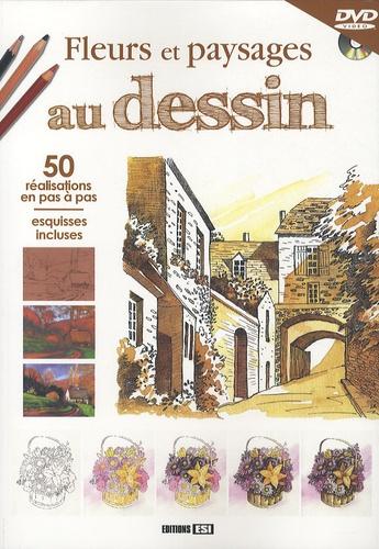 Editions ESI - Fleurs et paysages au dessin - 50 Réalisations en pas à pas, esquisses incluses. 1 DVD