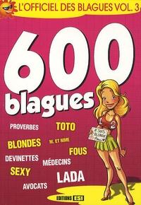 Deedr.fr L'Officiel des blagues - Volume 3, 600 blagues Image
