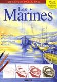 Editions ESI - Les Marines - Gouache, pastels secs, acryliques, encre....