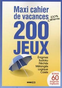 Editions ESI - Maxi cachier de vacances 200 jeux.