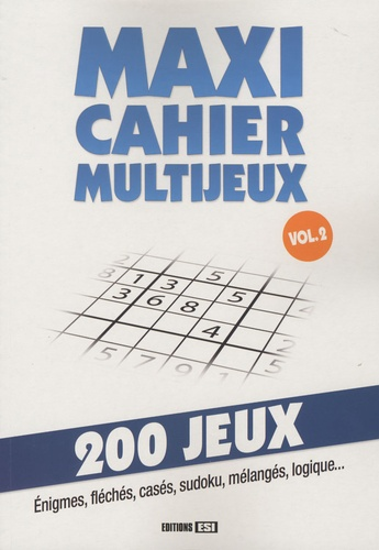 Editions ESI - Maxi cahier multijeux - Volume 2.