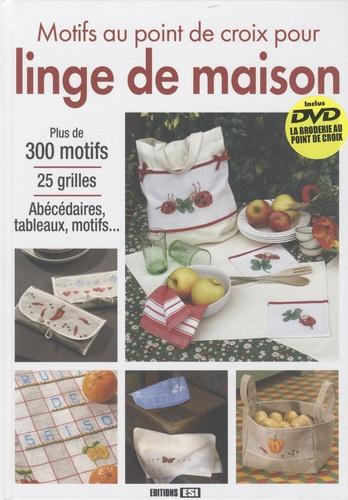 Editions ESI - Motifs au point de croix pour linge de maison. 1 DVD