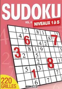 Editions ESI - Sudoku Niveaux 1 à 5 - Volume 8.