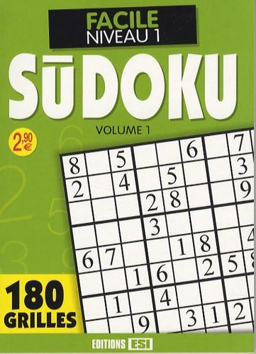 Editions ESI - Sudoku - Tome 1, Facile Niveau 1.