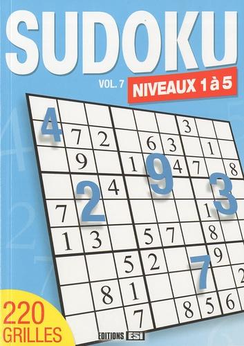 Editions ESI - Sudoku - Tome 7, niveaux 1 à 5.