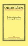 Société des études staëliennes - Cahiers staëliens N° 63 : Ecritures intimes dans le Groupe de Coppet.