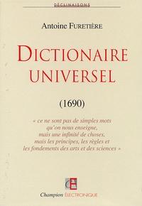 Antoine Furetière - Dictionnaire universel (1690) - CD-ROM monoposte.