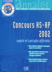 EDITIONS LAMARRE - Concours AS-AP 2002.