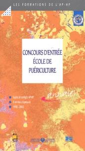 EDITIONS LAMARRE - Concours d'entrée Ecole de puériculture. - Epreuves de sélection 1998-2000.