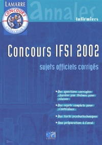 Concours IFSI 2001/2002 Pack 2 volumes. - Annales.pdf