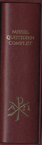 Editions Sainte-Madeleine - Missel quotidien complet bordeaux.