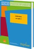 Editions SED - Littérature au cycle 3 - Fiches photocopiables.