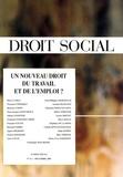 Jean-Jacques Dupeyroux - Droit Social N° 12, Décembre 2005 : Un nouveau droit du travail et de l'emploi ?.