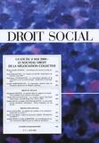 Jean-Jacques Dupeyroux et Marie-Armelle Souriac - Droit Social N° 6, juin 2004 : La loi du 4 mai 2004 : le nouveau droit de la négociation collective.