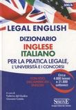 Edizioni Simone - Legal English dizionario inglese italiano per la pratica legale.