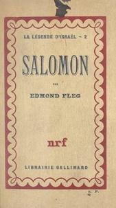 Edmond Fleg - La légende d'Israël (2) - Salomon.