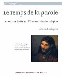 Edmond Ortigues - Letempsdelaparole - Etautresécritssurl'humanitéetlareligion.