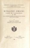 Edmond-René Labande - Rinaldo Orsini, comte de Tagliacozzo (+ 1390) et les premières guerres suscitées en Italie centrale par le grand schisme.