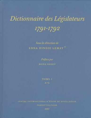 Edna Hindie Lemay - Dictionnaire des Législateurs, 1791-1792, pack en 2 tomes.