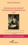 Edouard Claparède - Psychologie de l'enfant et pédagogie expérimentale (1905).