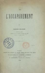 Edouard Dolléans - De l'accaparement.