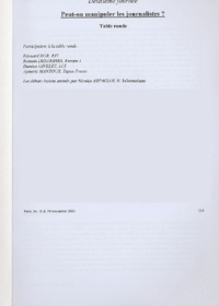Edouard Dor et Romain Désarbres - Peut-on manipuler les journalistes ?.