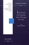 Edouard Dubout - Les droits de l'homme dans l'Europe en crise.
